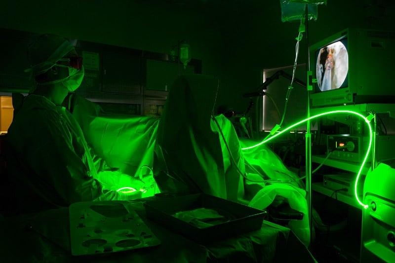 Image vaporisation de prostate au laser Greenlight
