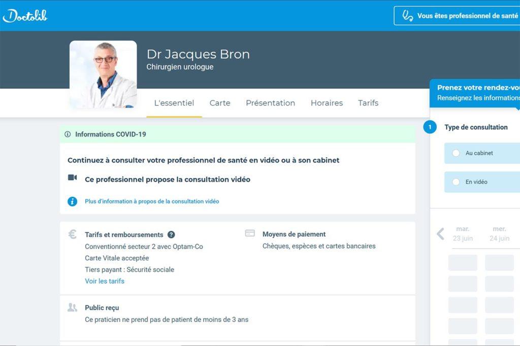 Docteur Bron sur Doctolib